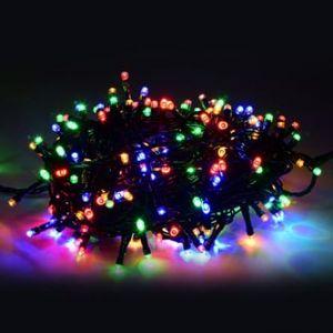 LED osvětlení, řetěz, 10m, 220-240 V (50-60Hz), 6W, multicolor, zelený kabel, 30000h, 100x
