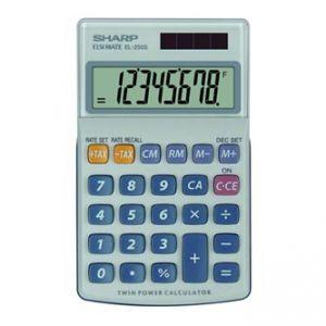 Kalkulačka SHARP, EL250S, šedo-modrá, kapesní, osmimístná