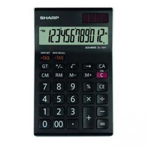 Kalkulačka SHARP, EL124TWH, černo-bílá, stolní, dvanáctimístná