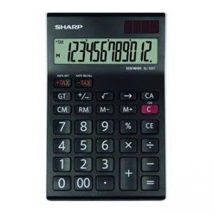 Kalkulačka SHARP, EL125TWH, černo-bílá, stolní, dvanáctimístná
