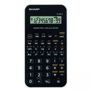 Kalkulačka SHARP, EL501XWH, černo-bílá, vědecká