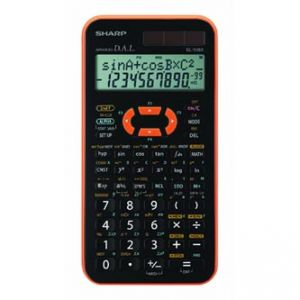 Kalkulačka SHARP, EL506XYR, černo-oranžová, vědecká