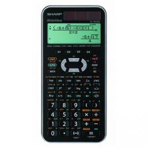 Kalkulačka SHARP, ELW506XSLC, černo-stříbrná, vědecká, bodový displej
