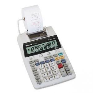 Kalkulačka SHARP, EL1750V, bílá, stolní s tiskem, dvanáctimístná, bez adaptéru