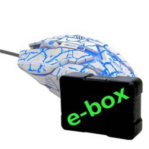 E-BLUE Myš Auroza Gaming, optická, 6tl., 1 kolečko, drátová (USB), bílá, 4000DPI, herní, e