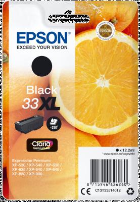 EPSON originální ink C13T33514012, T33XL, black, 12,2ml, EPSON Expression Home a Premium X