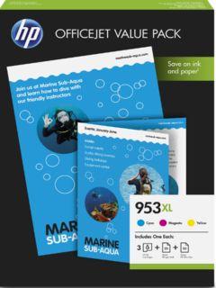 HP originální ink sada 1CC21AE, HP 953XL, cyan/magenta/yellow, 1600str., 75ks, HP OfficeJe