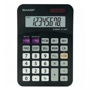 Kalkulačka SHARP, EL330FBBK, černá, stolní, osmimístná