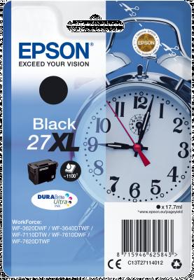 EPSON 27XL Alarm Clock 17.7ml BK, 27XL Alarm Clock 17.7ml BK