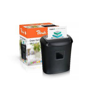 PEACH automatický skartovací stroj PS500-40 s křížovým řezem, až 10 listů, 21 l koš, CD,
