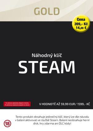 Náhodný klíč Steam Gold