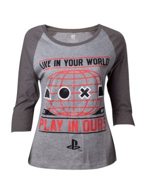 Tričko: PlayStation - Live in Your World - dámské - XL