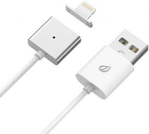 Lightning magnetický nabíjecí/datový kabel (ekv.Znaps), jedna koncovka, 1m, kov/plast, stř