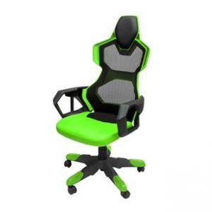 E-BLUE COBRA AIR Herní židle zelená, prodyšná záda - Pohodlné křeslo