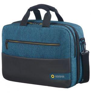 "American Tourister CITY DRIFT 3-WAY BOARDING BAG 15.6"" BLACK/BLUE"