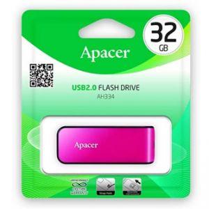 APACER USB Flash Drive, 2.0, 32GB, AH334 32GB Flash Drive, růžový, AP32GAH334P-1