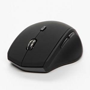 LOGO Myš Mystery, 2 ks AA, 2.4 [GHz], optická, 6tl., 1 kolečko, bezdrátová, černá, 1600DPI