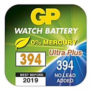 Baterie do hodinek, 394, 1.55V, GP, krabička, 10-pack, cena za 1 ks baterie, na bázi oxidu