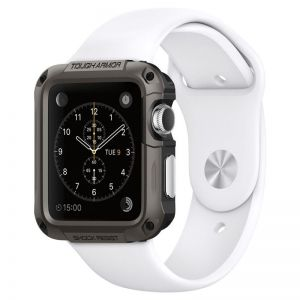 SPIGEN Tough ARMOR gunmetal-APPLE Watch 1,2 42mm kryt