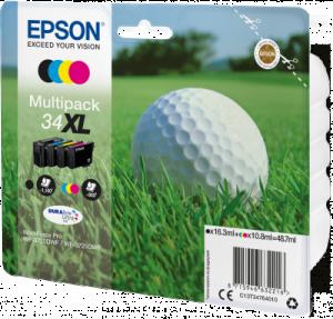 EPSON originální ink C13T34764010, T347640, CMYK, 48.7ml, EPSON WF-3720DWF, 3725DWF