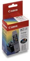 Inkoustová cartridge CANON, BCI21C,color, 0955A002-poškození obalu kategorie B (viz popis)