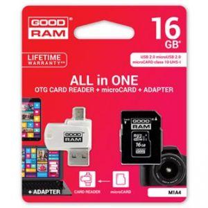 GOODRAM All-In-One, 16GB, sada micro SDHC, adaptéru a čtečky karet, M1A4-0160R11, UHS-I
