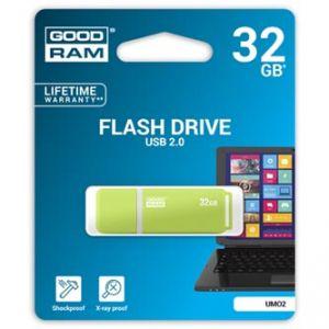 GOODRAM USB flash disk, 2.0, 32GB, UMO2, červený, zelený, UMO2-0320OGR11