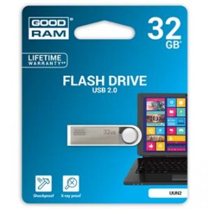 GOODRAM USB flash disk, 2.0, 32GB, UUN2, stříbrná, UUN2-0320S0R11