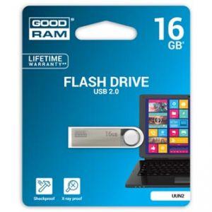 GOODRAM USB flash disk, 2.0, 16GB, UUN2, stříbrná, UUN2-0160S0R11