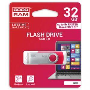GOODRAM USB flash disk, 3.0, 32GB, UTS3, červená, UTS3-0320R0R11