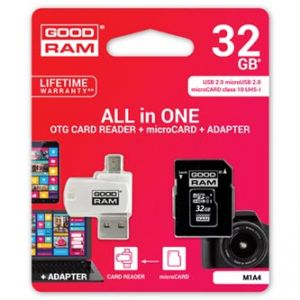 GOODRAM All-In-One, 32GB, sada micro SDXC, adaptéru a čtečky karet, M1A4-0320R11, UHS-I