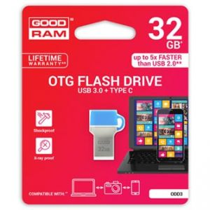 GOODRAM USB flash disk OTG, 3.1A/3.1C, 32GB, ODD3, modrá, ODD3-0320B0R11