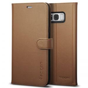 SPIGEN Wallet S, brown - pro SAMSUNG Galaxy S8+ kvalitní pouzdro, zapínání na magnet