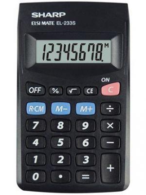 Kalkulačka SHARP, EL 233SBBK, černá, kapesní, osmimístná