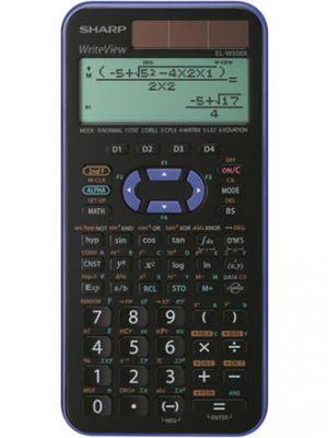 Kalkulačka SHARP, ELW 506XVL, černo-fialová, školní