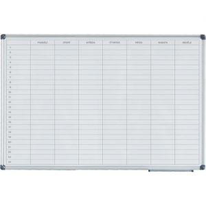 Týdenní plánovací keramická tabule bez poznámek