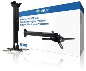 Valueline VLM-PM30 - Nástěnný držák projektoru Full Motion 10 kg, černá