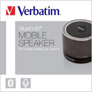VERBATIM reproduktor 1.0, ovládání hlasitosti, šedý, přenosný, s integr. baterií, Bluetoot