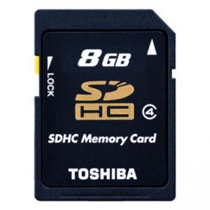 TOSHIBA paměťová karta N102, 8GB, SDHC, SD8GSDHC4N102TR, Class 4