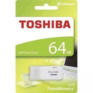 TOSHIBA USB flash disk, 2.0, 64GB, U202, bílý, PD64G20TU202WR
