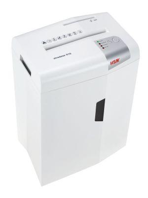 HSM Skartovací stroj X10 white řez 4,5x30, koš 20 l, až 10 listů A4 80g, CD i karty