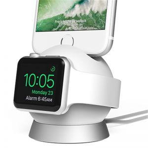 IOTTIE OmniBolt Charging Stand, white/silver - nabíjecí stojánek pro APPLE Watch / iphone
