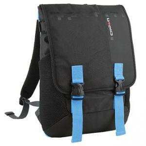 """Batoh na notebook 15,6"""", černý s modrými prvky z nylonu, NT013, Crown"""