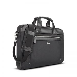 "SOLO Irving Briefcase, black - 15.6"""