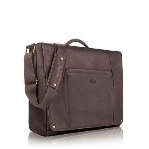 "SOLO Hudson Leather Messenger, espresso - 16"""
