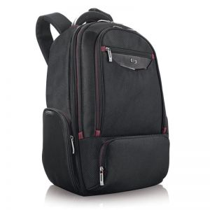 SOLO Executive Backpack, black/red - 17.3""