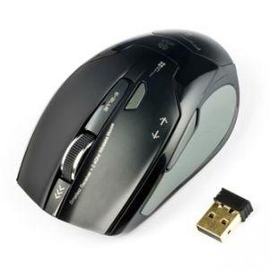 E-BLUE Myš ARCO 2, 2 ks AAA, 2.4 [GHz], optická, 6tl., 1 kolečko, bezdrátová, černá, 1600D