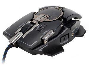 myš laserová ZALMAN ZM-GM4 - 8200DPI, program. 10tl., black, USB, mechanical design