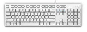 DELL klávesnice, multimediální KB216, US+International, bílá