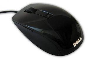 DELL myš, laserová s posunovacím kolečkem, 6-ti tl. černá, USB